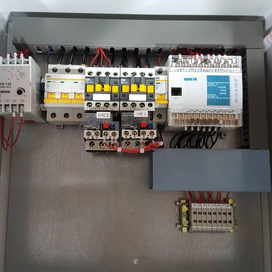 Шкаф управления двумя насосами КНС