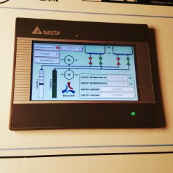 Шкаф управления 2-мя насосами с дополнительными функциями. GSM.