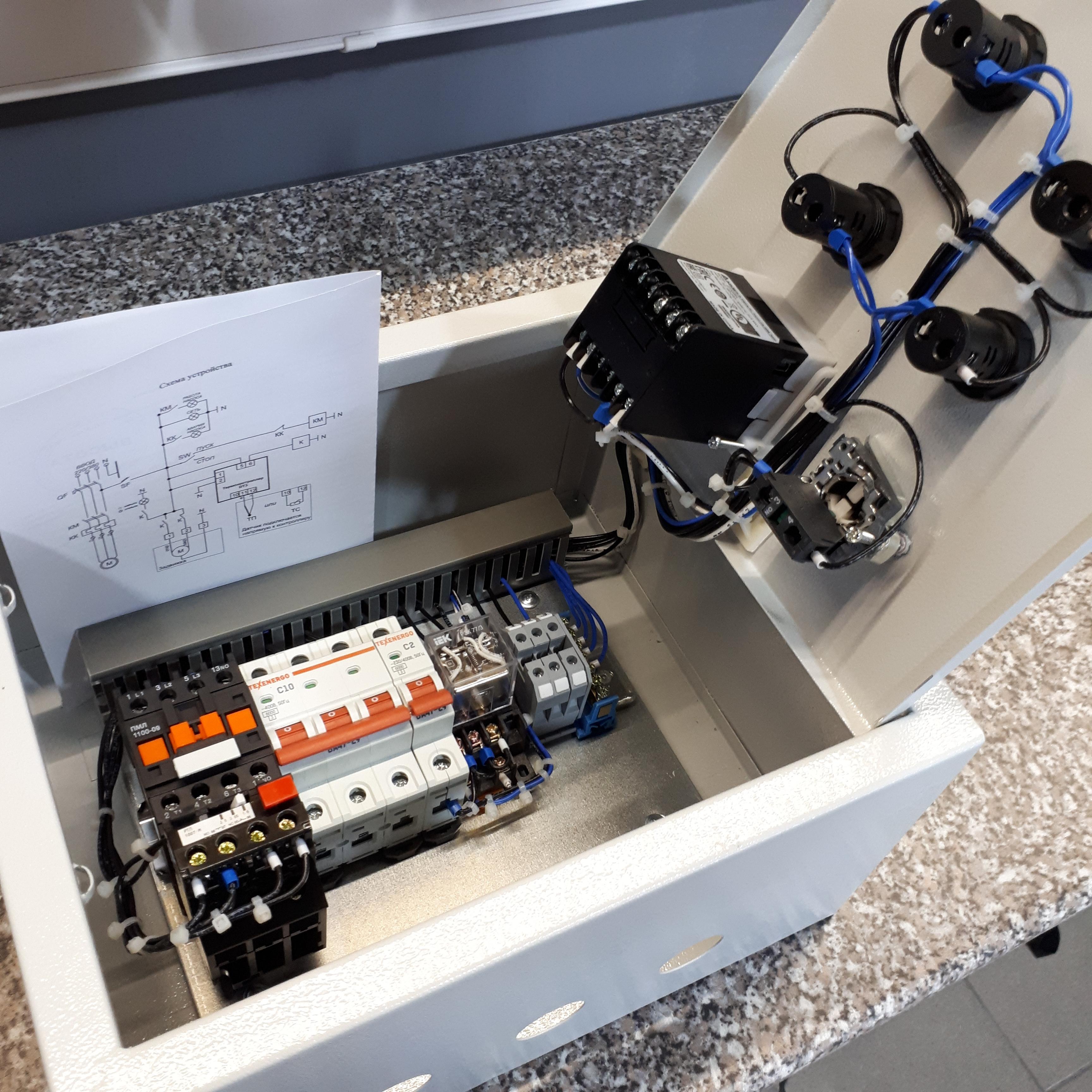 Шкаф управления (автоматики) насосом КНС и задвижкой отопления 2