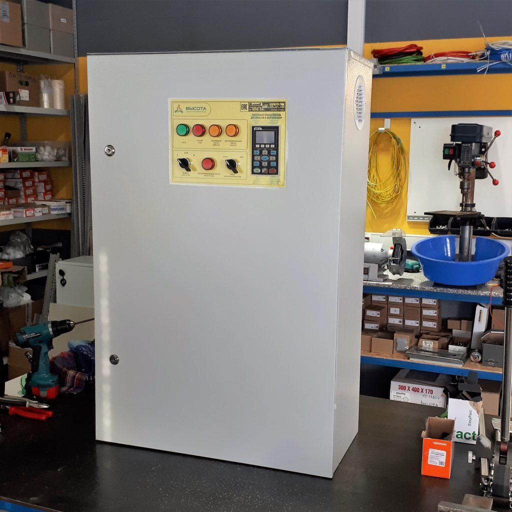 Шкаф управления двумя насосами с преобразователем частоты - Высота Ч2 - 2