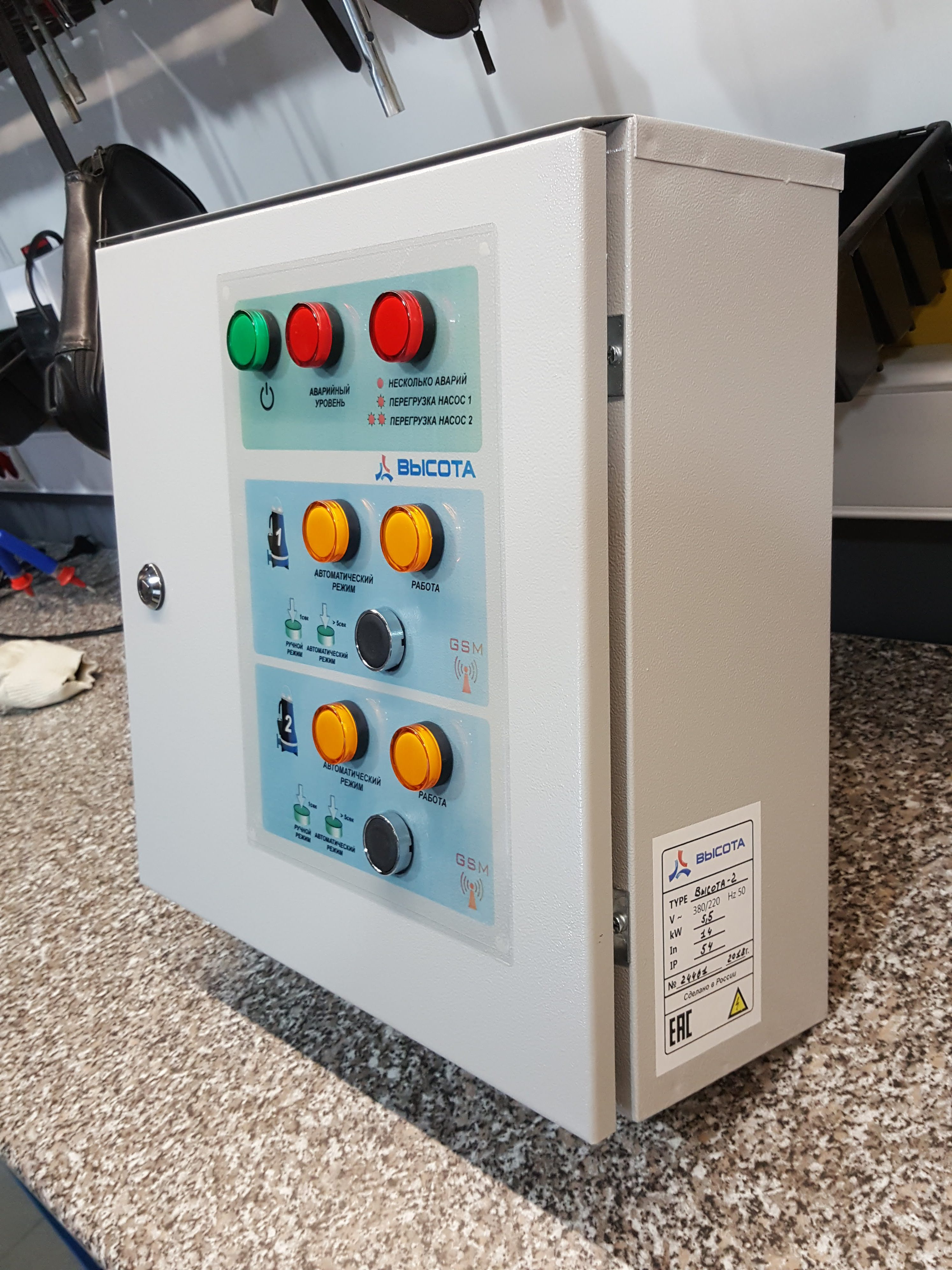 Автоматика для КНС с GSM