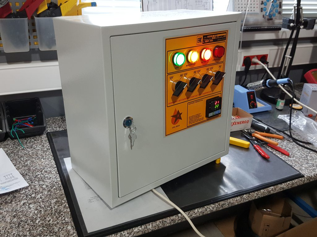 Блок управления электрокалориферами